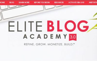 Elite Blog Academy 3.0 - Ruth Soukup
