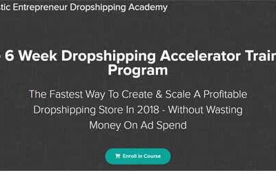Dropshipping Accelerator 2018 - Adam Thomas